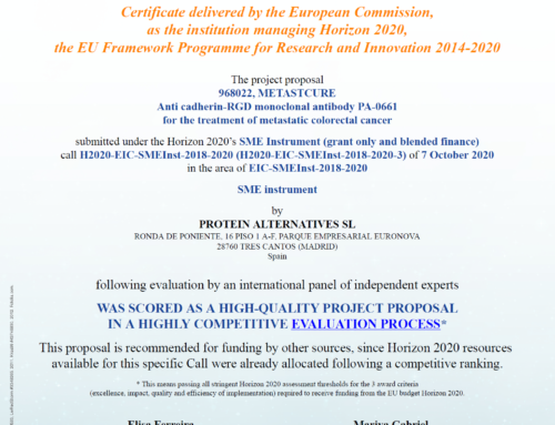 METASTCURE colon cancer therapeutic project receives the Seal of Excellence recognition from the EU H2020 Programme